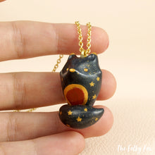 Load image into Gallery viewer, Red Jasper Wolf Necklace in Polymer Clay - The Folky Fox