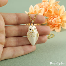 Load image into Gallery viewer, Barn Owl Necklace in Ceramic - The Folky Fox