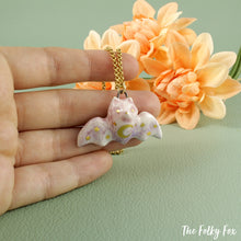 Load image into Gallery viewer, Flying Fox Necklace in Ceramic - The Folky Fox