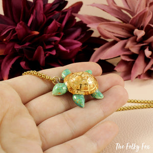 Turtle Necklace in Ceramic - The Folky Fox