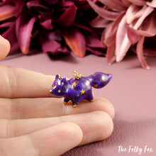 Load image into Gallery viewer, Galaxy Fox Necklace in Polymer Clay 1 - The Folky Fox