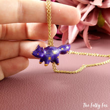 Load image into Gallery viewer, Galaxy Fox Necklace in Polymer Clay 2 - The Folky Fox