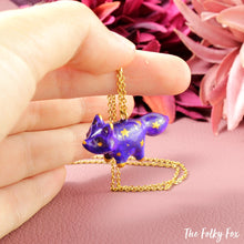Load image into Gallery viewer, Galaxy Fox Necklace in Polymer Clay 5 - The Folky Fox