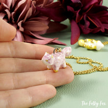 Load image into Gallery viewer, Purple Fox Necklace in Ceramic - The Folky Fox