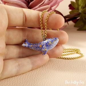 Starry Whale Necklace in Ceramic - The Folky Fox