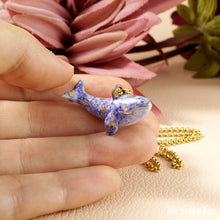 Load image into Gallery viewer, Starry Whale Necklace in Ceramic - The Folky Fox