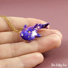 Load image into Gallery viewer, Galaxy Whale Shark Necklace in Polymer Clay - The Folky Fox