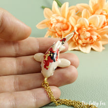 Load image into Gallery viewer, Koi Fish Necklace in Polymer Clay - The Folky Fox