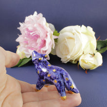 Load image into Gallery viewer, Galaxy Wolf Figurine in Ceramic - The Folky Fox
