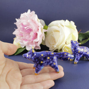 Galaxy Fox Figurine in Ceramic - The Folky Fox