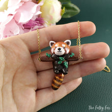 Load image into Gallery viewer, Red Panda Necklace in Polymer Clay - The Folky Fox