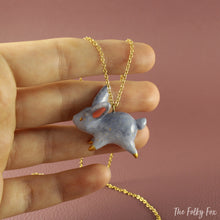 Load image into Gallery viewer, Bunny Necklace in Polymer Clay - The Folky Fox