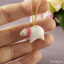 Load image into Gallery viewer, Polar Bear Necklace in Polymer Clay - The Folky Fox