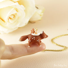 Load image into Gallery viewer, Gingerbread Cake Fox Necklace in Polymer Clay 1 - The Folky Fox