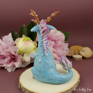 Sakura Dragon in Polymer Clay - The Folky Fox
