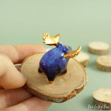 Load image into Gallery viewer, Galaxy Moose Figurine in Polymer Clay - The Folky Fox