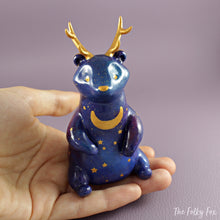 Load image into Gallery viewer, Galaxy Antler Bear Figurine in Polymer Clay - The Folky Fox