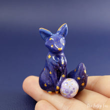 Load image into Gallery viewer, Galaxy Fox  Figurine in Polymer Clay - The Folky Fox