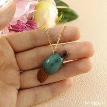 Load image into Gallery viewer, Platypus Necklace in Polymer Clay - The Folky Fox