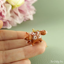 Load image into Gallery viewer, Gingerbread Fox Necklace in Polymer Clay 5 - The Folky Fox