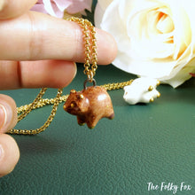 Load image into Gallery viewer, Brown Bear Necklace in Ceramic - The Folky Fox