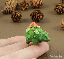 Load image into Gallery viewer, Mushroom bear Sculpture in Polymer Clay - 1 - The Folky Fox