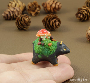 Copy of Mushroom bear Sculpture in Polymer Clay - 2 - The Folky Fox