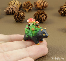 Load image into Gallery viewer, Copy of Mushroom bear Sculpture in Polymer Clay - 2 - The Folky Fox