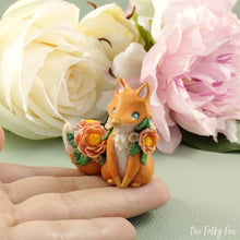 Load image into Gallery viewer, Spring Fox Sculpture in Polymer Clay - The Folky Fox