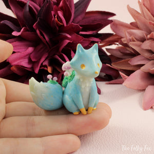 Crystal Fox Sculpture in Polymer Clay - The Folky Fox