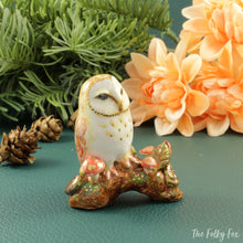 Load image into Gallery viewer, Barn Owl Figurine in Ceramic - The Folky Fox