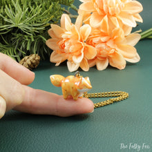 Load image into Gallery viewer, Orange Fox Necklace in Ceramic - The Folky Fox