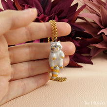 Load image into Gallery viewer, Raccoon Necklace in Ceramic - The Folky Fox