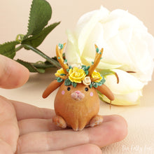 Load image into Gallery viewer, Bunny Sculpture in Polymer Clay 8 - The Folky Fox