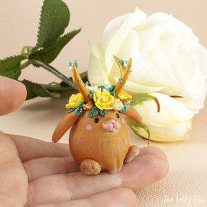 Bunny Sculpture in Polymer Clay 8 - The Folky Fox