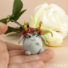 Load image into Gallery viewer, Bunny Sculpture in Polymer Clay 7 - The Folky Fox