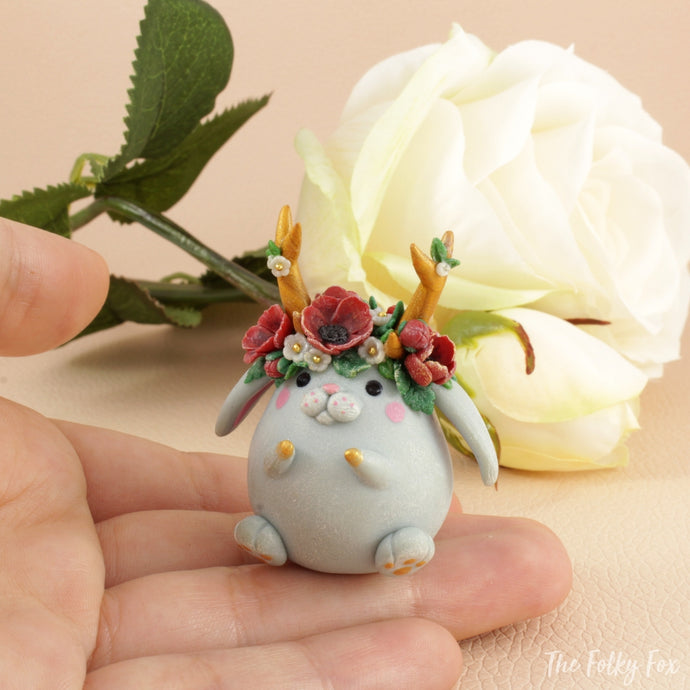 Bunny Sculpture in Polymer Clay 7 - The Folky Fox