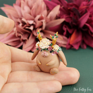 Bunny Sculpture in Polymer Clay 4 - The Folky Fox