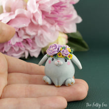 Load image into Gallery viewer, Bunny Sculpture in Polymer Clay 3 - The Folky Fox