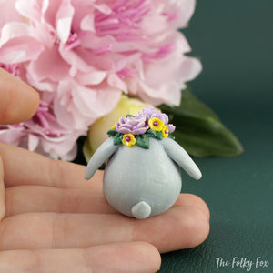 Bunny Sculpture in Polymer Clay 3 - The Folky Fox