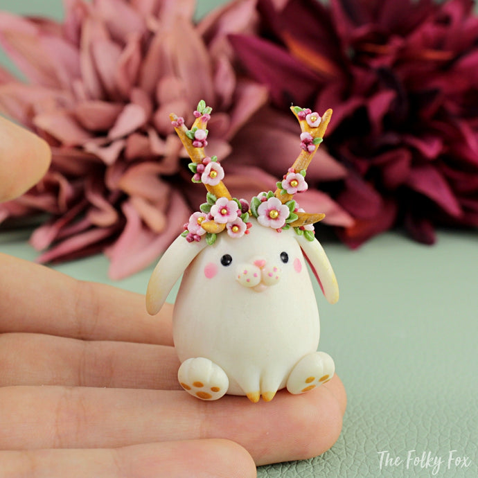 Bunny Sculpture in Polymer Clay 5 - The Folky Fox