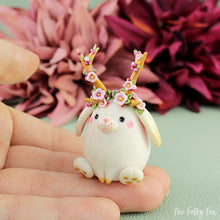 Load image into Gallery viewer, Bunny Sculpture in Polymer Clay 5 - The Folky Fox