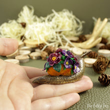 Load image into Gallery viewer, Spring Snail Sculpture in Polymer Clay - The Folky Fox