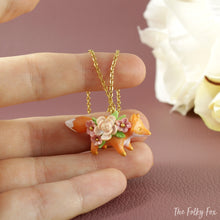 Load image into Gallery viewer, Floral Fox Necklace in Polymer Clay 5 - The Folky Fox