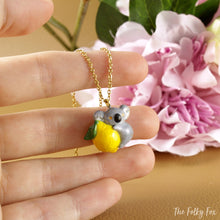 Load image into Gallery viewer, Lemon Koala Necklace in Polymer Clay - The Folky Fox