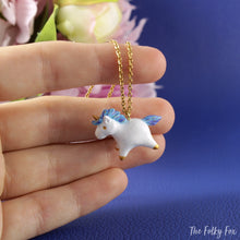 Load image into Gallery viewer, Unicorn Necklace in Polymer Clay - The Folky Fox