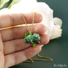 Load image into Gallery viewer, Chameleon Necklace in Polymer Clay - The Folky Fox