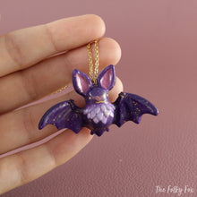 Load image into Gallery viewer, Bat Necklace in Polymer Clay 1 - The Folky Fox