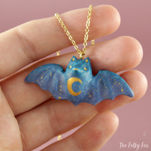 Load image into Gallery viewer, Colored Bat Necklace in Polymer Clay 1 - The Folky Fox