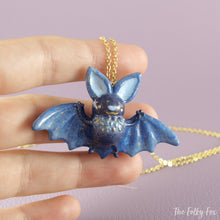 Load image into Gallery viewer, Bat Necklace in Polymer Clay 2 - The Folky Fox